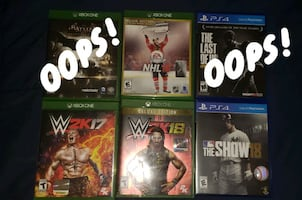 Video games xbox one and ps4