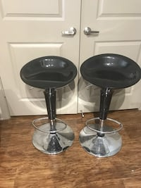 Two black and chrome adjustable bar stools!  Fort Worth, 76177