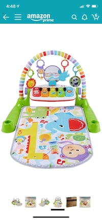 Fisher price deluxe kick & play piano gym mat