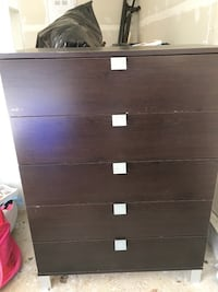 brown wooden 4-drawer chest Surrey, V3Z 0T2