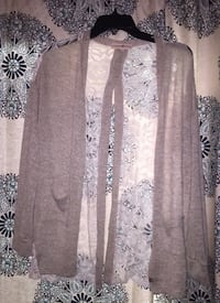 gray and white floral cardigan Louisville, 40203