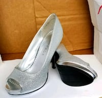 Silver Sparkl Heels Shoes Charleston