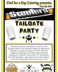 Tailgate Party Catering Recommended by the Steelers  Pittsburgh