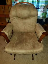 brown wooden tan padded glider chair Canton, 44708
