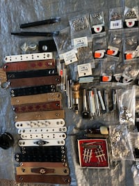 Assorted Leather work g tools and accessories. Buy all for 95.00. Much of it still in original packaging. Calgary, T2X 0C4