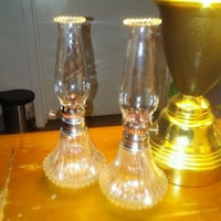 {2} SMALL & BEAUTIFUL IDENTICAL GLASS LAMP Dilworth, 56529