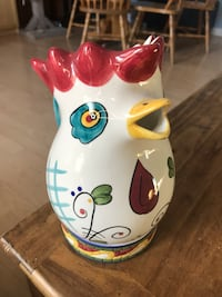 """Rooster pitcher.  ~10"""" tall Calgary, T2K 4W3"""
