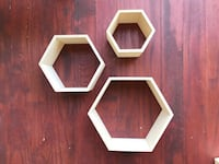 Three shelves wooden wall decors Arlington, 22205
