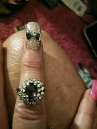 silver and diamond studded ring Anniston