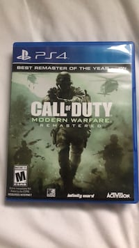 ps4 call of duty modern warfare remastered BRAND NEW Fairfax, 22032