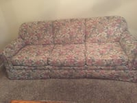 brown and pink floral fabric 2-seat sofa Monroe, 30656