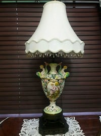 white and green floral table lamp Miami, 33185