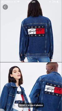 Tommy Hilfiger inspired boyfriend dark wash denim jacket  Marrickville, 2204