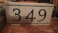 349 concrete house number to be installed in brick Oakville, L6H 5T3