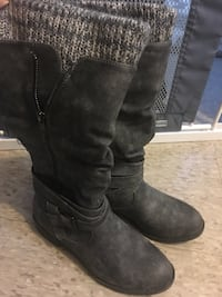 Size 8 woman's boots worn once Welland, L3B 1P9