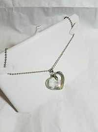 Plastic Heart Necklace