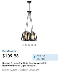 NEW Multi Light Pendant  Clarksville