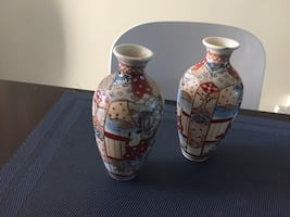 Two antique Chinese vases  no stamp