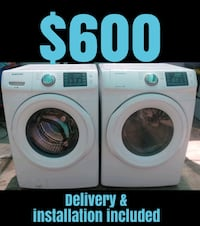 Samsung Super Capacity Stackable Washer & Gas Dryer
