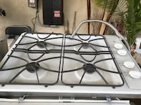 white and black 4-burner gas stove Bakersfield, 93309