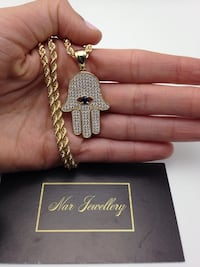 """10kt gold 24"""" rope chain with pendant Toronto, M6C"""
