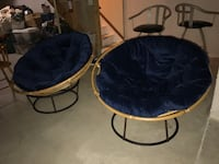 two blue and black moon chairs Brighton, 48116