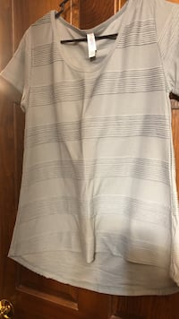 white and gray stripe scoop-neck shirt Guilford, 17202