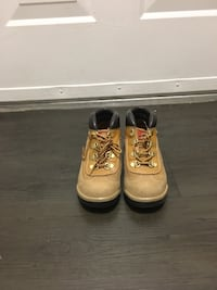 Pair of brown timberland work boots Ashburn