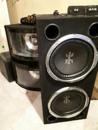 black and gray Sony Xplod subwoofer speaker London, N6J 2M9