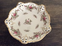 Rose dish with gold trim  Moliere from 1950 made in Germany Rosenthal numbered 2984 30 Kernersville, 27284