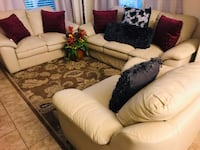 Beautiful Genuine 3 Pc. Leather Couch Set Ewa Gentry, 96707