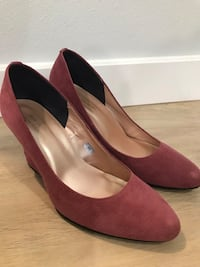 Pink velour finish Ladies Shoes ベルビュー, 98006