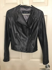 Vegan leather biker jacket , gun metal colour size xs  Maple Ridge, V2X 1V3