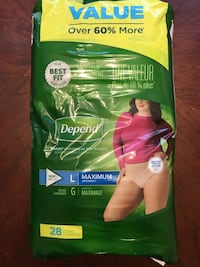 Depends disposable underwear  Bel Air, 21014