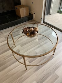 Glass Gold Tables FOR SALE - like new!