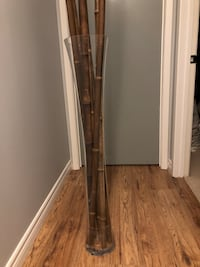 Glass vase with bamboo sticks about 6f tall Mississauga, L5J 1P8