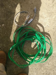 Heater cord for fozen pipes