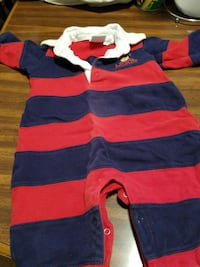 baby's blue and red stripe footie pajama Front Royal, 22630