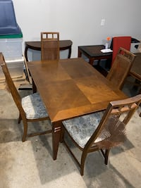 Rustic Farmhouse Dining Table with Chairs