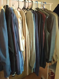 Mens business casual, outwear and sweaters-Large