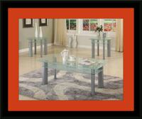 Glass white coffee table 53 km