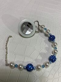 Pacifier clip with Swarovski beads and crystals  New York, 11691
