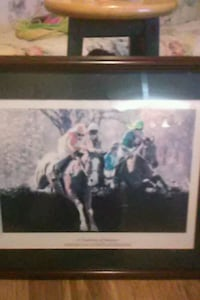 photo of horse racer with brown wooden frame Wagener, 29164