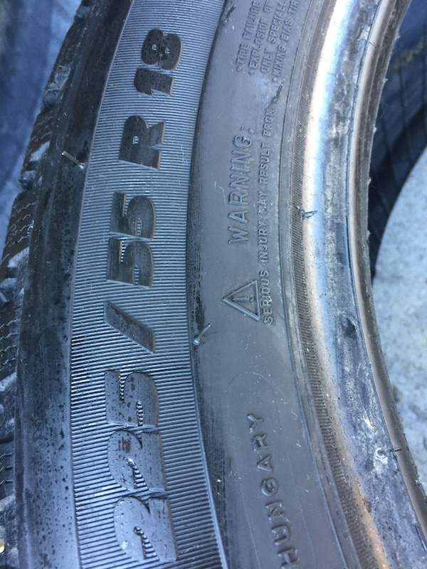 set of 4 winter tires Michelin LATITUDE size 225/55/R18 1