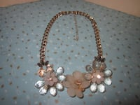 Vintage 80's Large Flowers Costume Jewelry Vintage Party Choker Necklace Winnipeg