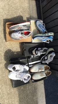 Four pairs of nike sneakers and one pair of like new dress shoes, two for $20.00 or make an offer for them ALL! Oxnard