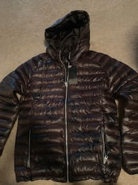 black zip-up bubble jacket New Carrollton, 20784