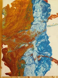 blue and orange abstract painting Indianapolis, 46239