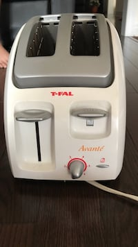 gray and white T-Fal 2-slice bread toaster