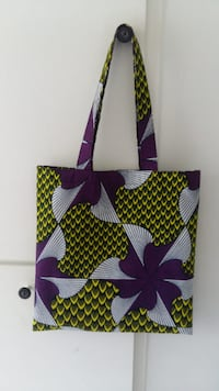 Tote Bag en tissu Wax  PARIS